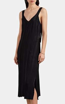 Raquel Allegra Women's Striped Crepe Tank Dress - Black