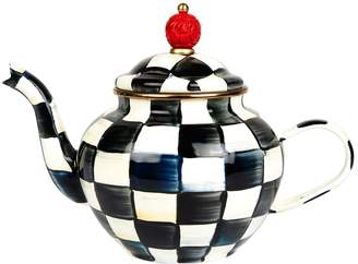 Mackenzie Childs Courtly Check Teapot
