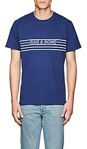 Rag & Bone Men's Logo Cotton Jersey T-Shirt - Blue
