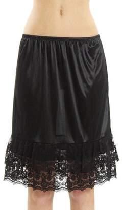 Melody Women's Double Layered Satin Skirt Extender / Half Slip Lingerie