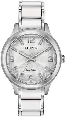 DRIVE FROM CITIZEN ECO-DRIVE Drive from Citizen Womens Two Tone Stainless Steel Bracelet Watch-Fe7070-52a