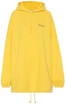 Balenciaga Oversized cotton-blend hoodie