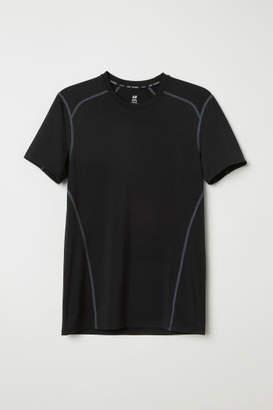 H&M Short-sleeved Sports Shirt - Black