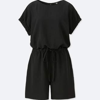Uniqlo Women's Drape Short-sleeve Romper (online Exclusive)