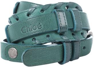 Chloé Green Leather Belts