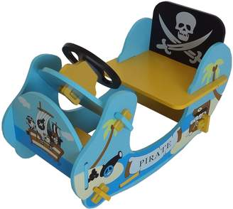 Camilla And Marc Kiddi Style Children's Pirate Wooden Rocker Ride On Boat 69 x 34 x 44 cm