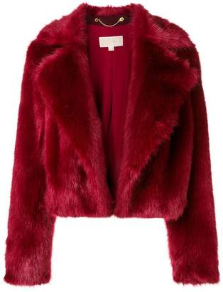 MICHAEL Michael Kors cropped faux fur jacket