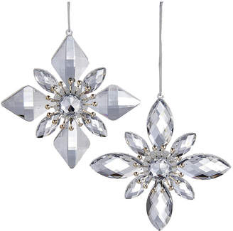 Kurt Adler 5.3In Silver Jewel Snowflake Ornament