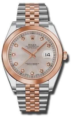 Rolex Two-Tone DateJust II Rose Gold Sundust Diamond Dial Watch