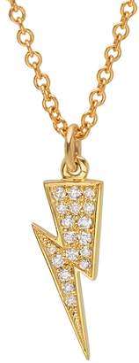 Lightning Bolt Established Diamond Necklace - Yellow Gold