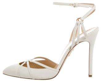 Charlotte Olympia Leather Pointed-Toe Pumps