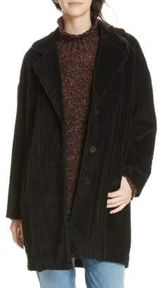 Eileen Fisher Organic Cotton Corduroy Coat
