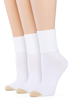 Gold Toe GoldToe 3-pk. Ultra Soft Turn-Cuff Socks