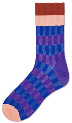 Hysteria By Happy Socks Helen Graphic-Stripe Crew Socks