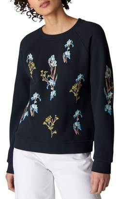 Whistles Iris Floral Embroidered Sweater