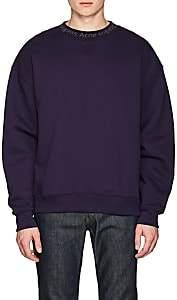 Acne Studios Men's Flogho Cotton Fleece Sweatshirt - Purple