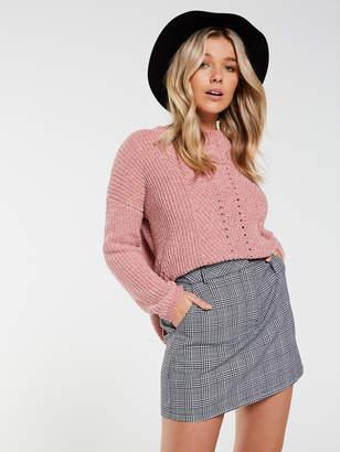 Dotti Rodeo Drive Check Mini Skirt
