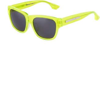 McQ Square Neon Plastic Sunglasses