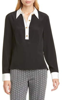 Tommy Hilfiger Tommy x Zendaya Contrast Collar Pullover Blouse