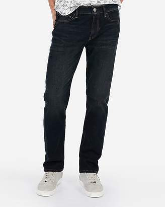 Express Slim Straight Hyper Stretch Dark Wash Jeans