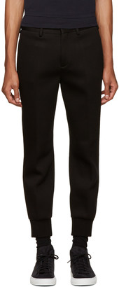 Neil Barrett Black Bonded Jersey Trousers $415 thestylecure.com