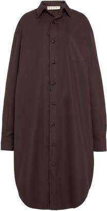 Marni Cotton Button-Front Cocoon Shirt Dress Size: 36