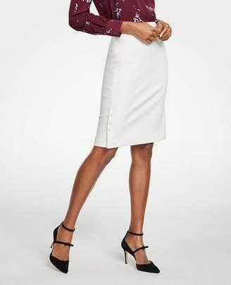 Ann Taylor Petite Pearlized Trim Pencil Skirt