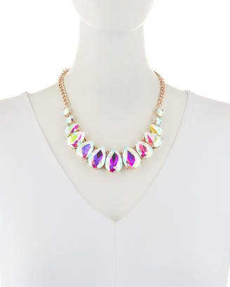 Romeo & Juliet Couture Iridescent Crystal Bib Necklace