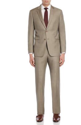 Armani Collezioni Two-Piece Khaki Wool Suit