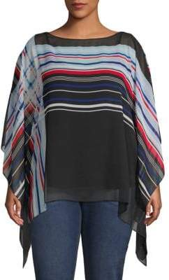 Vince Camuto Plus Linear Boatneck Top