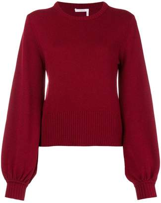Chloé puff sleeves knitted jumper
