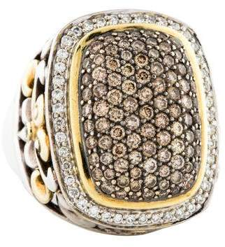 Charles Krypell Diamond Cocktail Ring