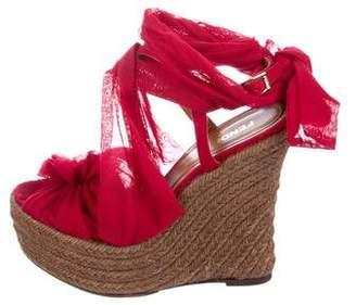 Fendi Platform Wedged Sandals