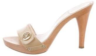 Christian Dior Patent Leather Slide Sandals