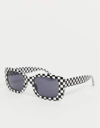 Vans Keech square sunglasses in checkerboard