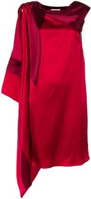 Gianluca Capannolo asymmetric draped midi dress
