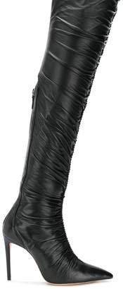 Alexandre Birman knee-length ruched boots