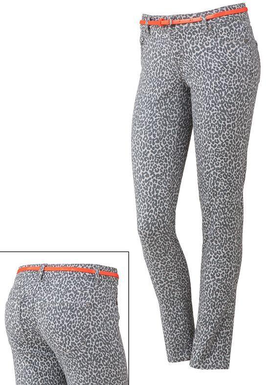 Celebrity blues cheetah skinny jeans