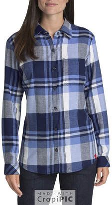 Dickies Long Sleeve Flannel Plaid Shirt - Plus