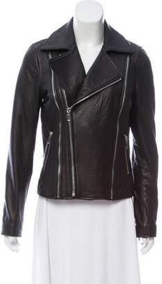 Scoop Leather Moto Jacket