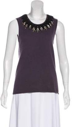 Tory Burch Cashmere Embellished Top