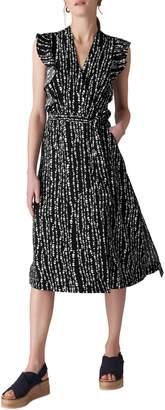 Whistles Misha Savannah Print Wrap Dress