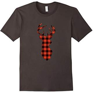 Classic Red & Plaid Deer Silhouette