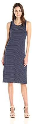 Michael Stars Women's Cafe Stripe Layered Tank Dress