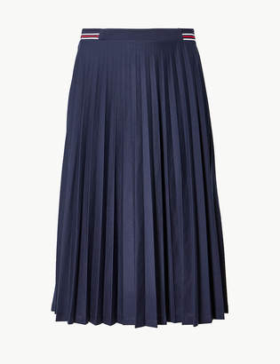 52f85c4318c Marks and Spencer Jersey Pleated Midi Skirt