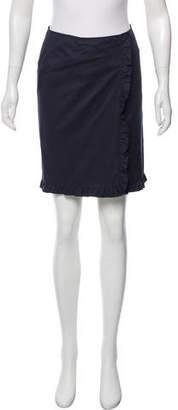 Miu Miu Ruffle-Trimmed Mini Skirt