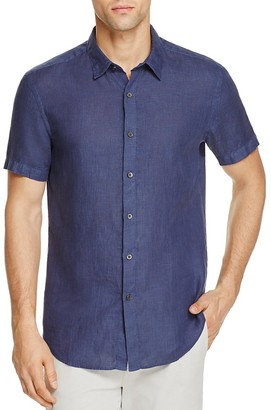 Theory Clark Slim Fit Button-Down Shirt - 100% Exclusive $170 thestylecure.com
