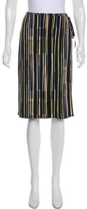 BCBGMAXAZRIA Abstract Print Knee-Length Skirt