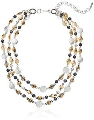 """Nine West and Crystal 16"""" Collar Necklace"""