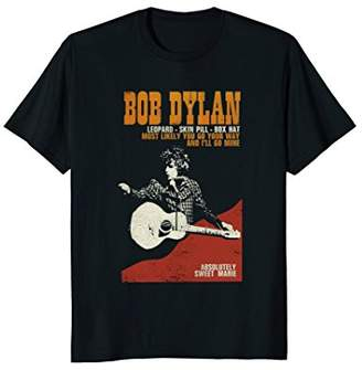 The Threadshop Bob Dylan Sweet Marie Tee Officially Licensed
